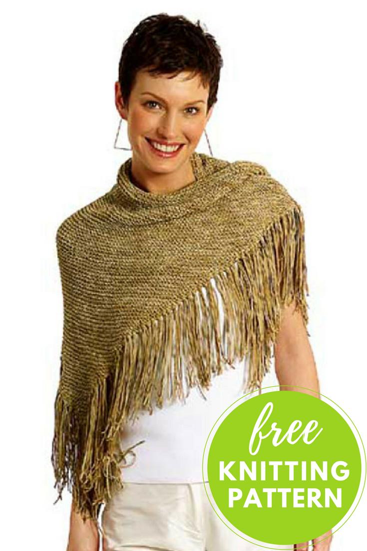Oakley Gauge 8 >> Oakley Easy Shawl Free Knitting Pattern — Blog.NobleKnits