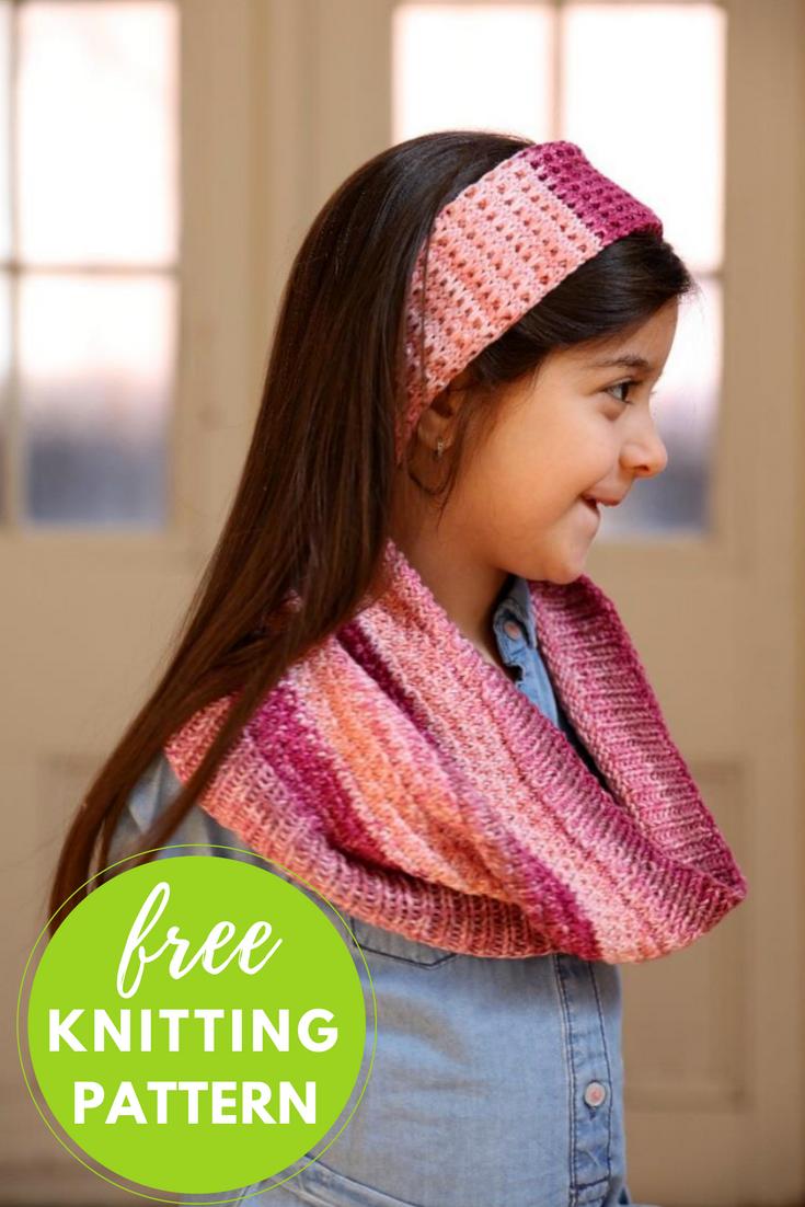 Children's Cowl Free Knitting Pattern