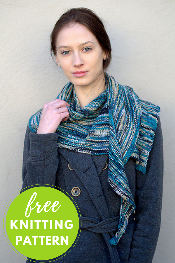 Asymmetrical Shawl Free Knitting Pattern - One Skein Project!
