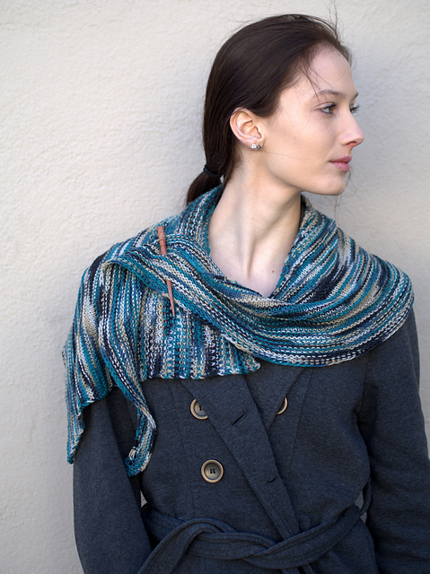 Free Knitting Pattern - Asymmetrical Shawl
