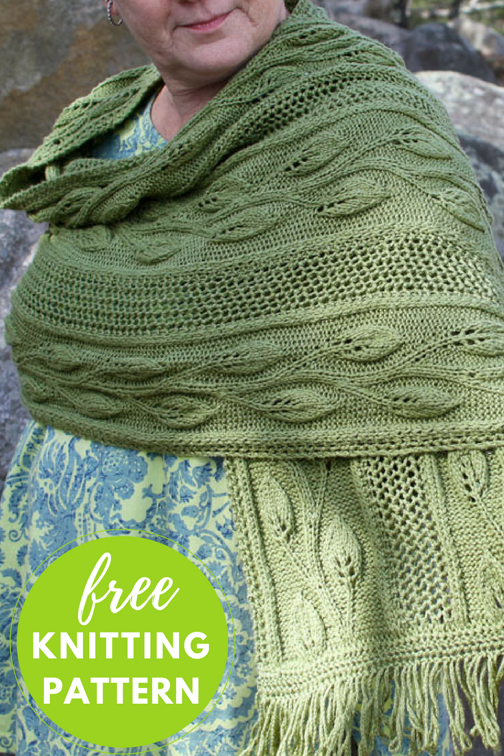 Finally Spring Shawl Free Knitting Pattern Blog Nobleknits