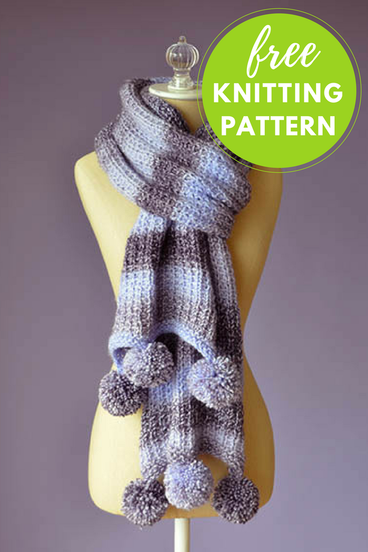 Pomtastic Scarf Free Knitting Pattern
