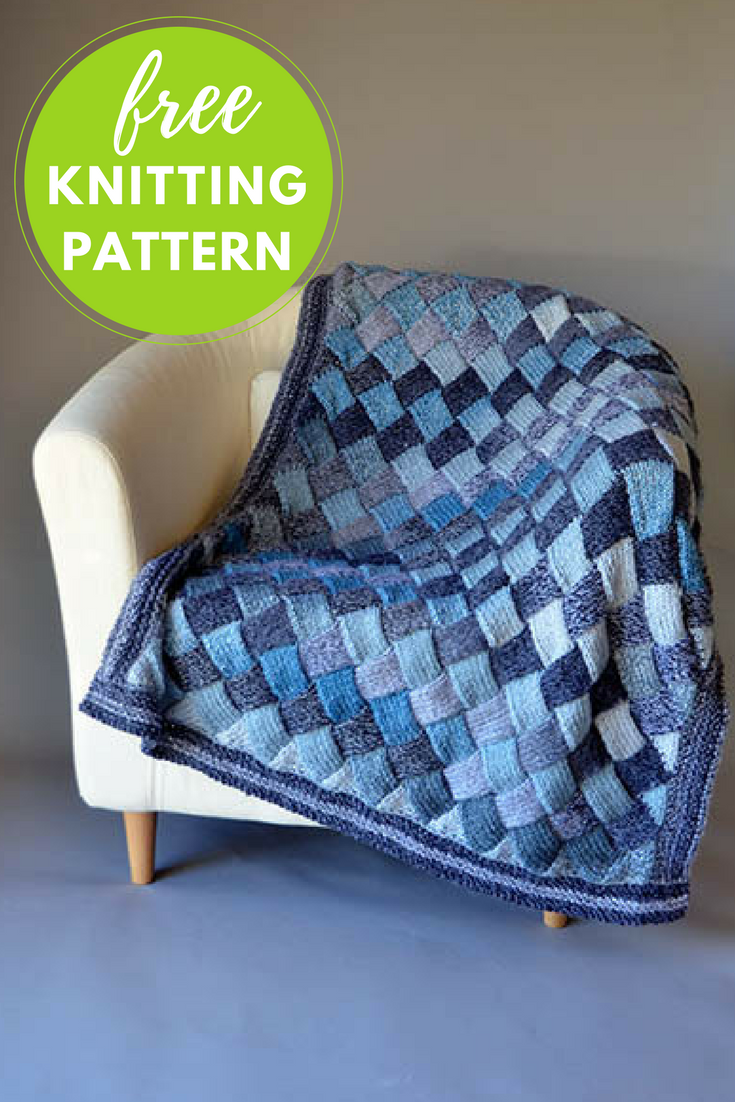 Woven Sky Blanket Free Knitting Pattern