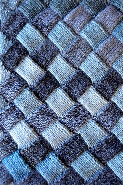 Knitting Stitch Patterns Entrelac : Woven Sky Blanket Free Knitting Pattern   Blog.NobleKnits
