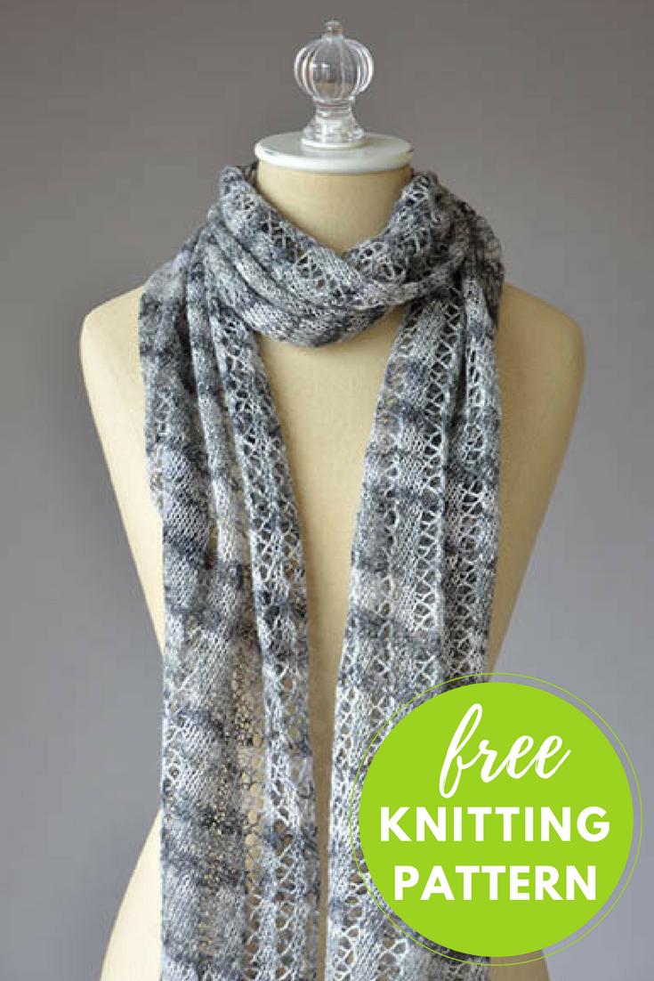 Augustine Scarf Free Knitting Pattern