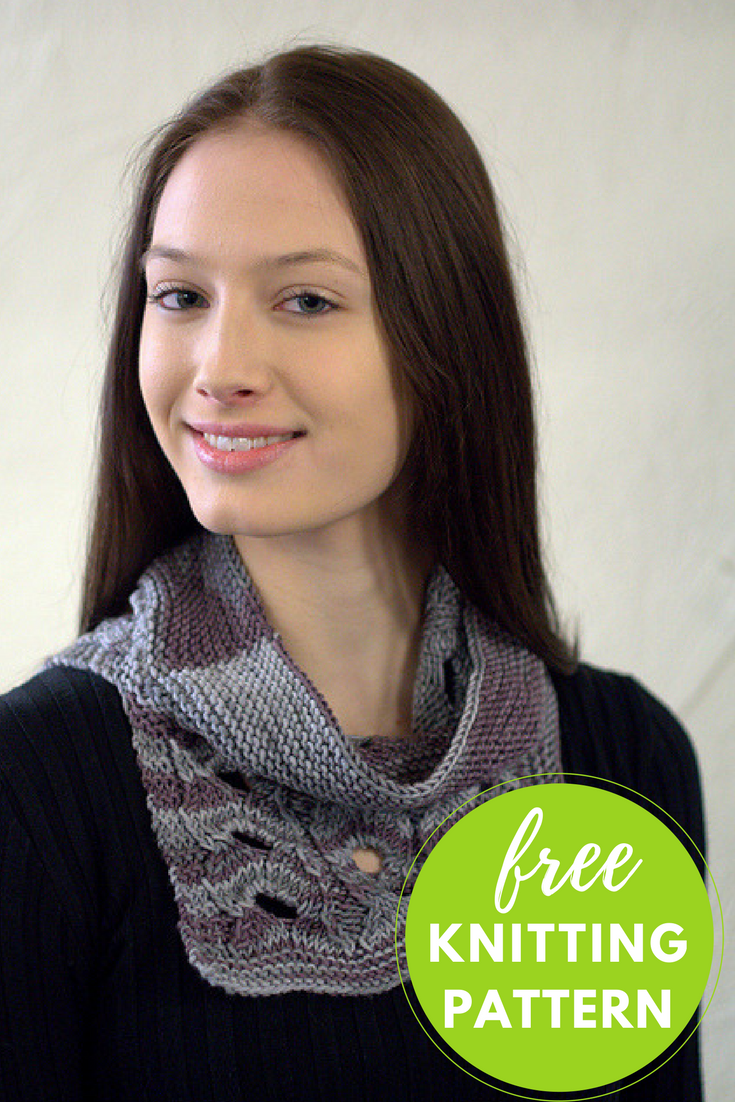 Split Cowl Free Knitting Pattern - 1 skein project!