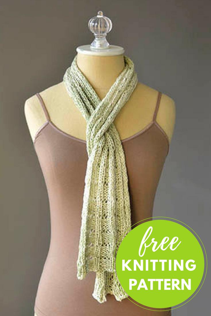 Botanical Scarf Free Knitting Pattern