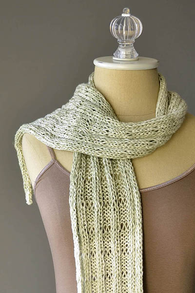 Botanical Scarf Free Knitting Pattern - One skein project!