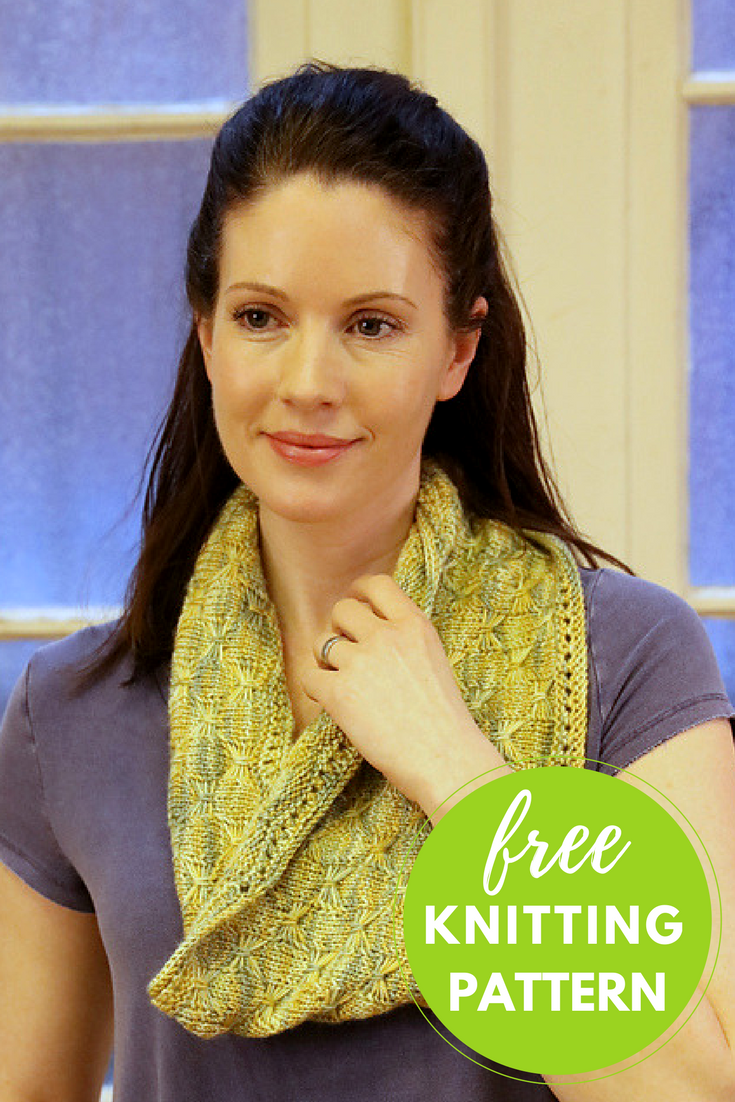 Butterfly Cowl Free Knitting Pattern - 1 skein project!