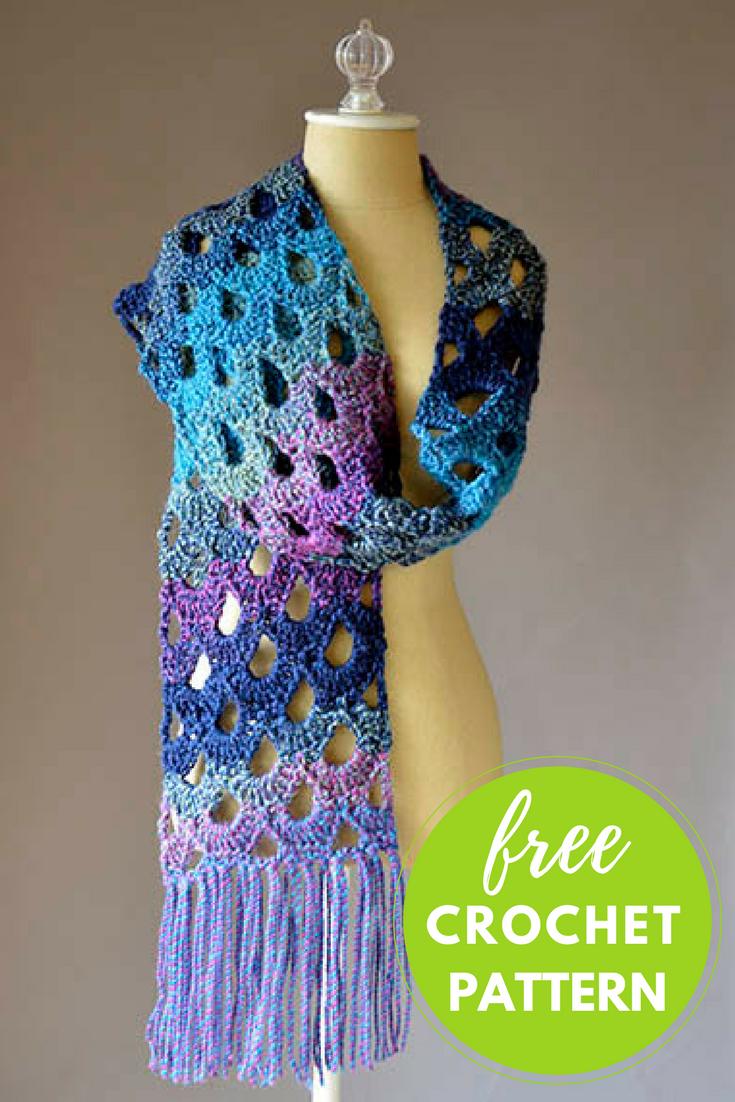 Zeppelin Scarf Free Crochet Pattern — Blog.NobleKnits