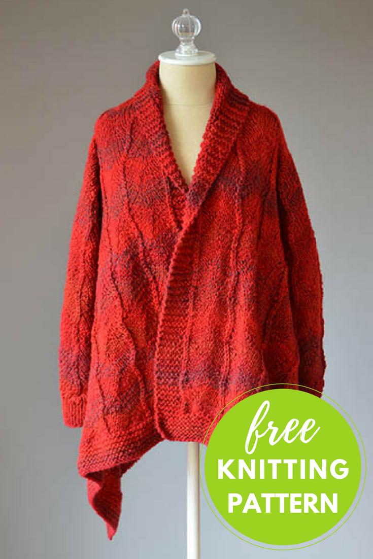 Cardinal Cardigan Free Knitting Pattern