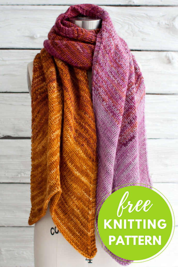 Pradera Wrap Free Knitting Pattern