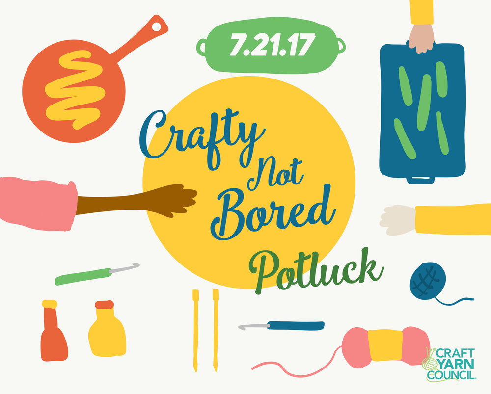 Beat summer boredom and join the Craft Yarn Council's Crafty Not Bored Month!