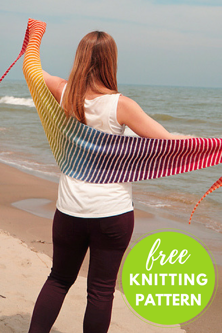 Danish Triangle Scarf Free Knitting Pattern — Blog.NobleKnits