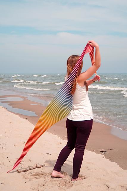 Danish Triangle Scarf Free Knitting Pattern Blogbleknits