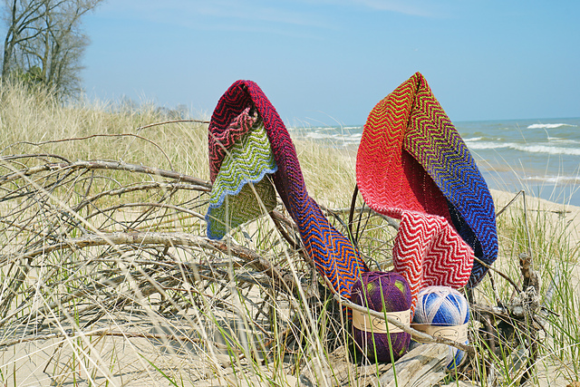 Free Knitting Pattern: Point Beach Scarf