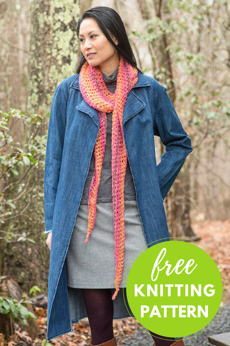 Trelawny Scarf Free Knitting Pattern