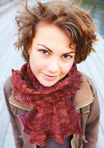 Picot Tricot Scarf Free Knitting Pattern