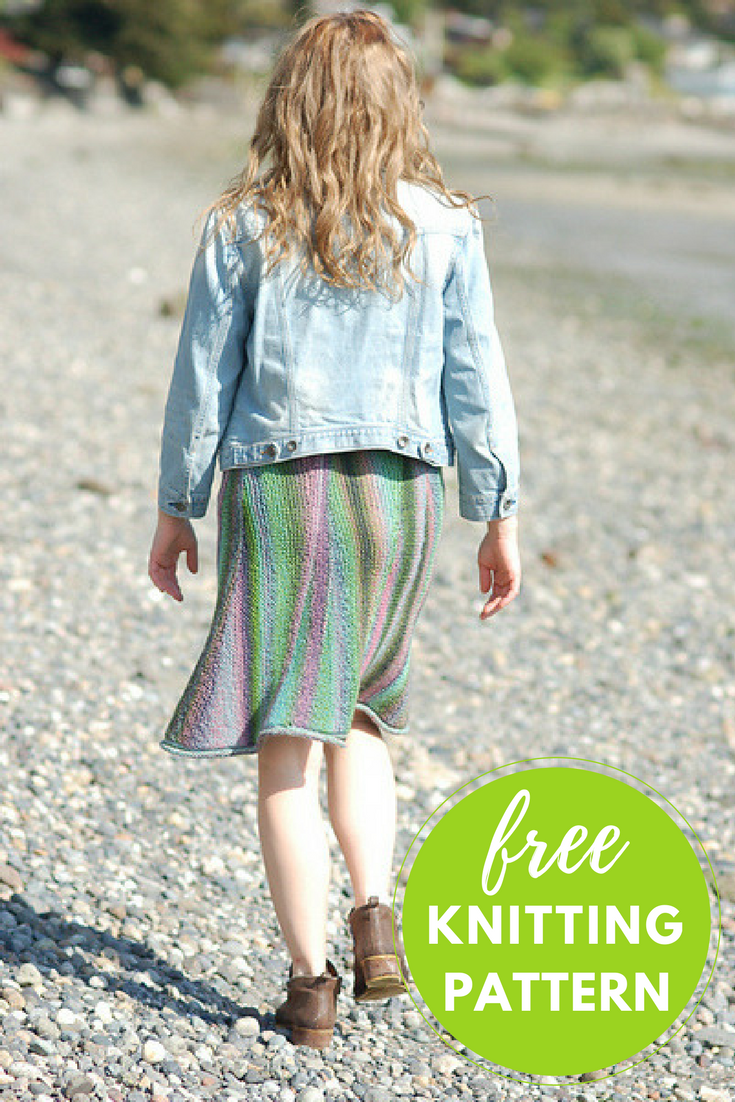 Slip On & Go Skirt Free Knitting Pattern