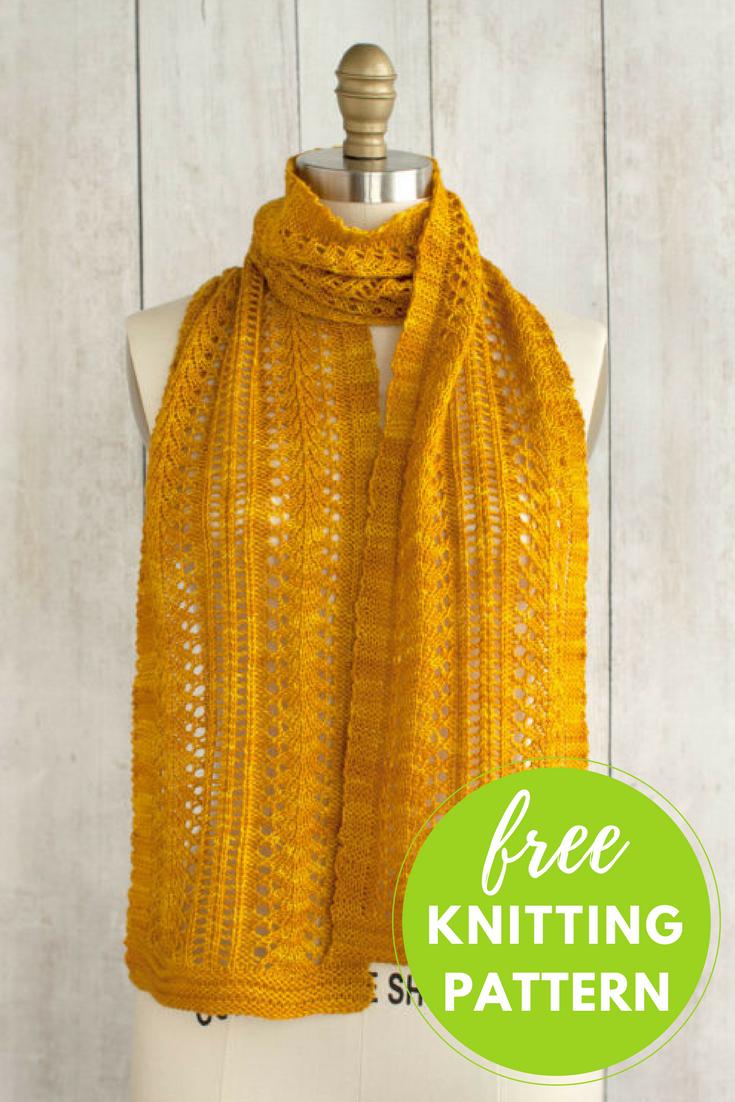 Sage Smudging Scarf Free Knitting Pattern