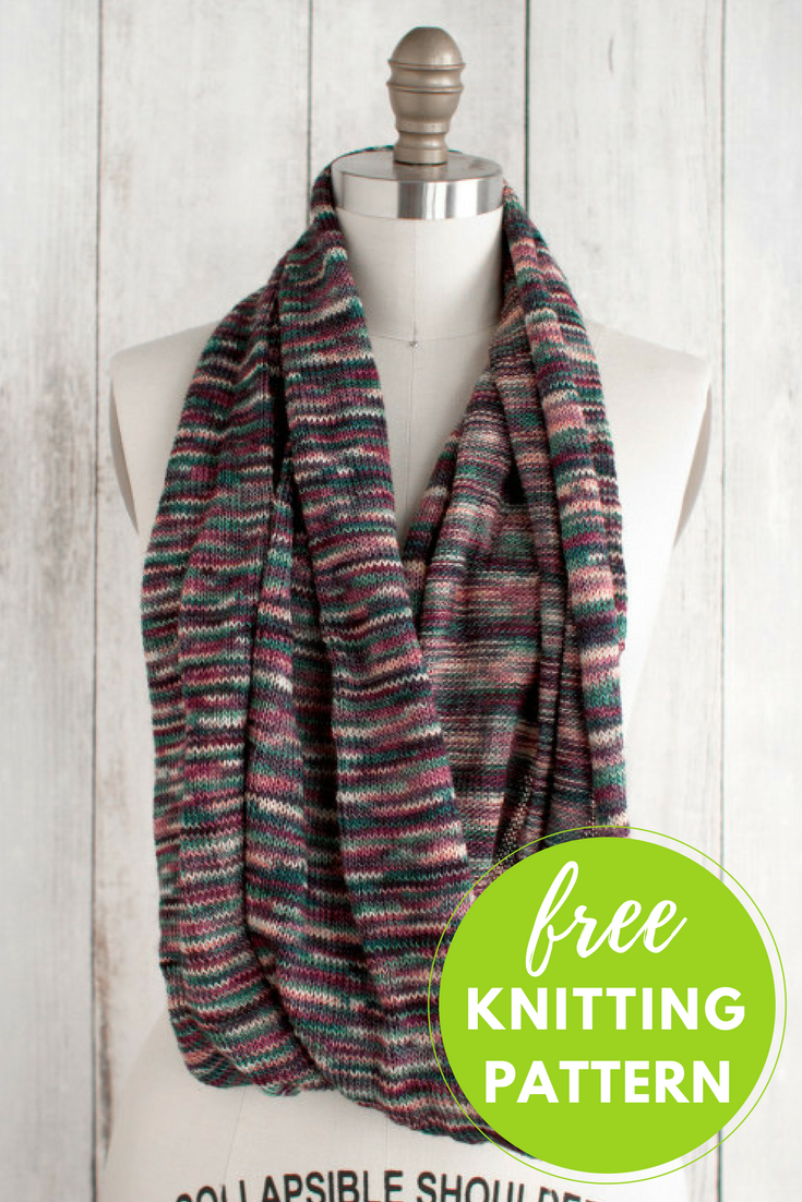 Marina Circle Scarf Free Knitting Pattern
