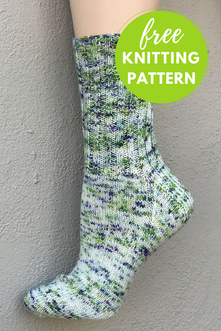 Happy Feet Splash Sock Free Knitting Pattern — Blog.NobleKnits