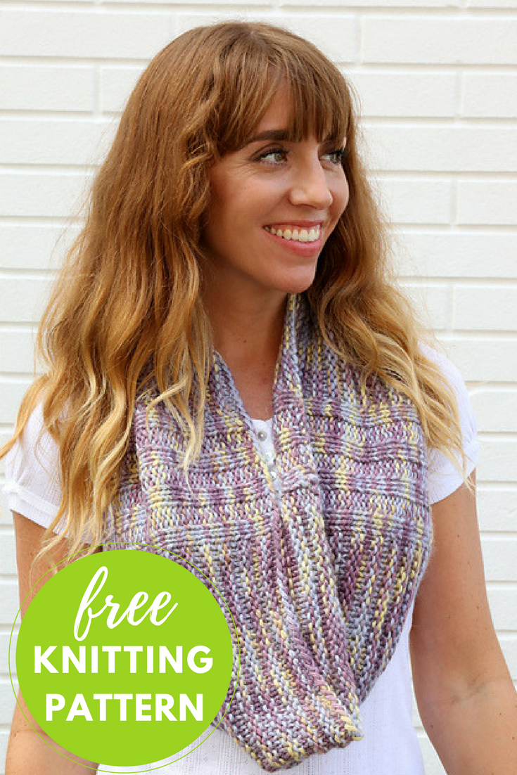 Rib and Column Cowl Free Knitting Pattern