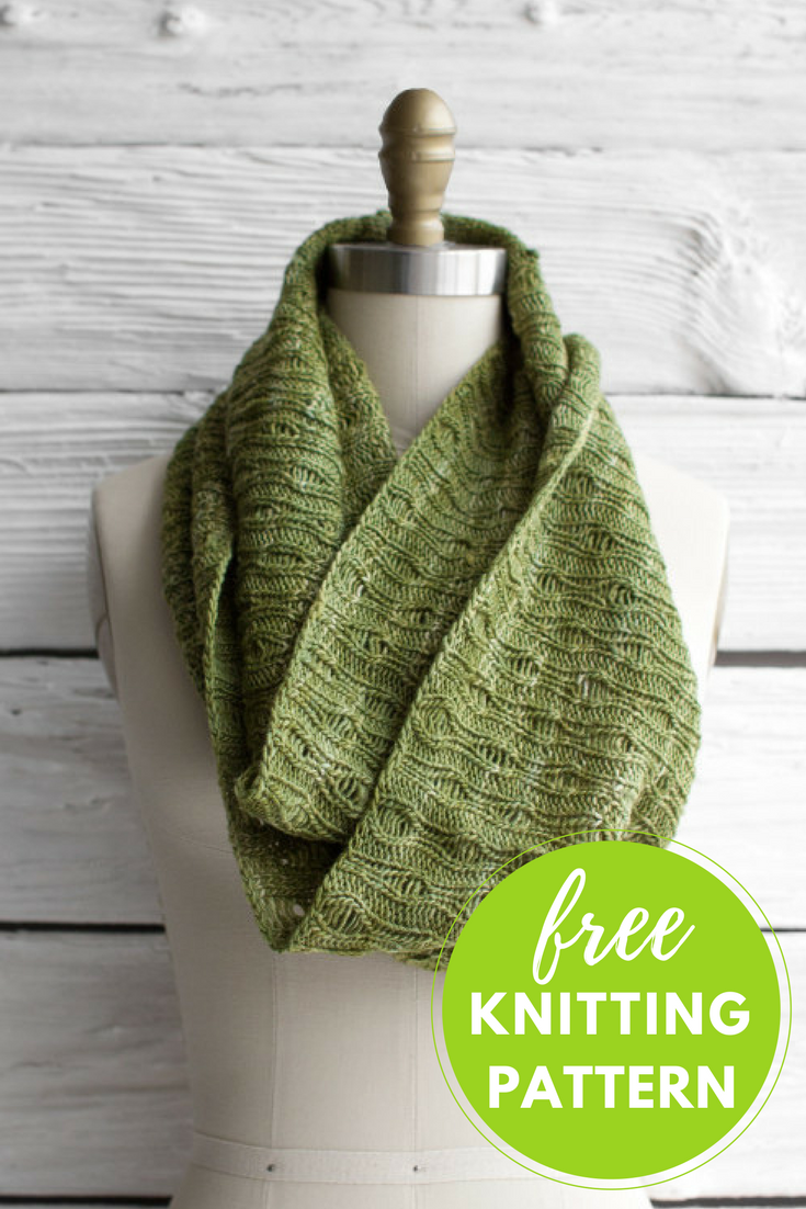 Eternidad Infinity Scarf Free Knitting Pattern - One skein project!