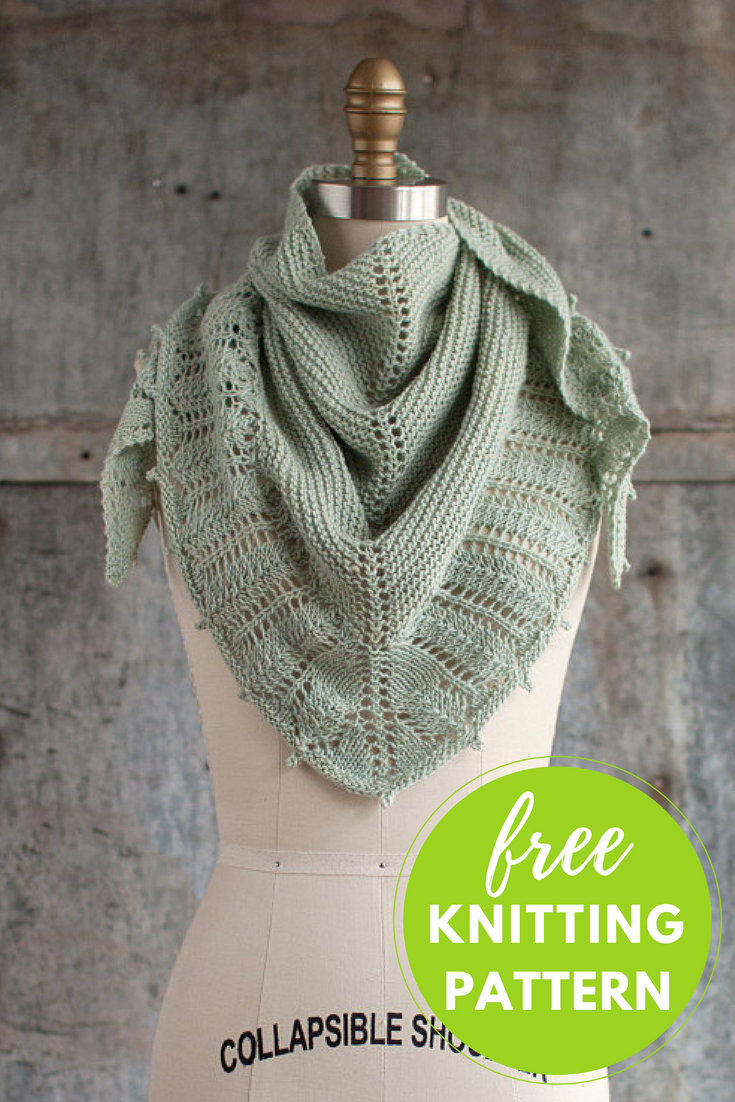 Pluma Shawlette Free Knitting Pattern - One skein project!
