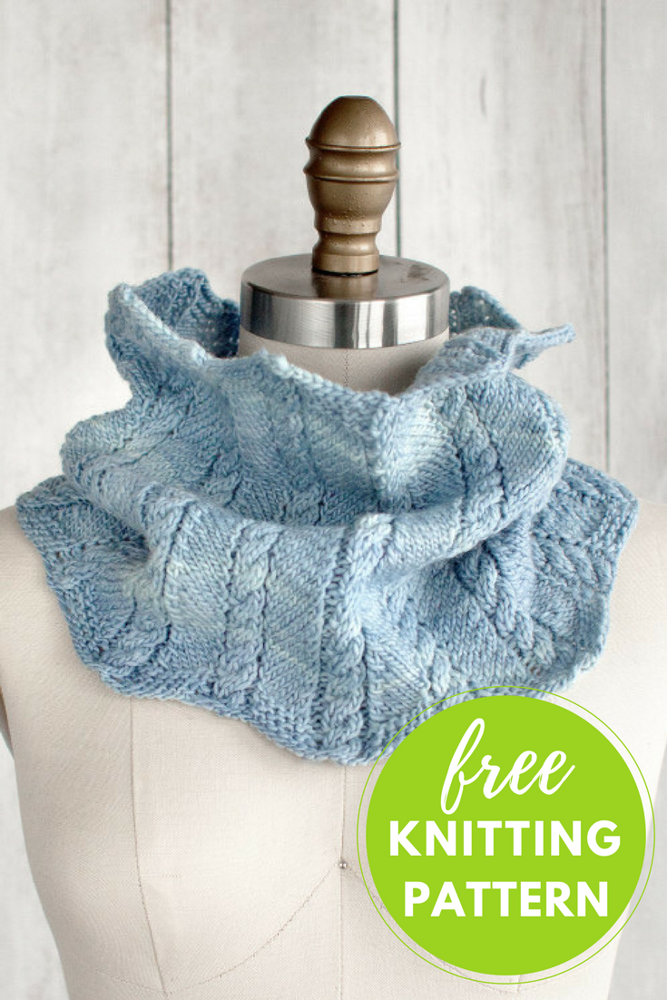 Zigzag Cable Cowl Free Knitting Pattern — Blog.NobleKnits