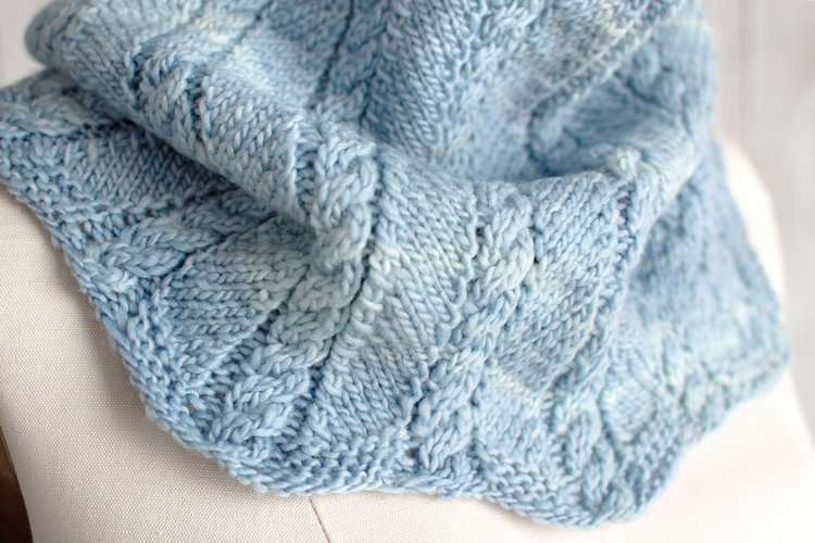 Zigzag Cable Cowl Free Knitting Pattern Blogbleknits