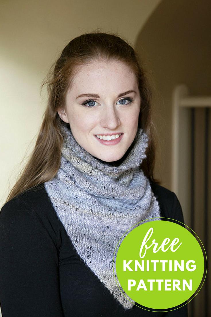 Kerchief Cowl Free Knitting Pattern