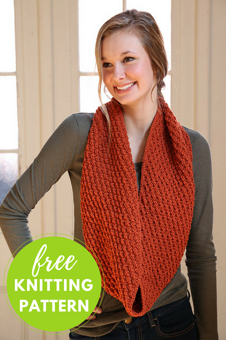 Double Seed Stitch Cowl Free Knitting Pattern