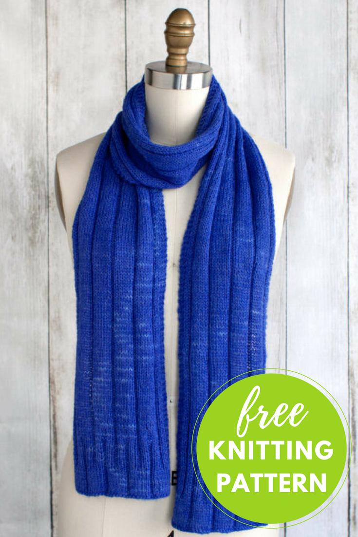 Sapphire Scarf Free Knitting Pattern