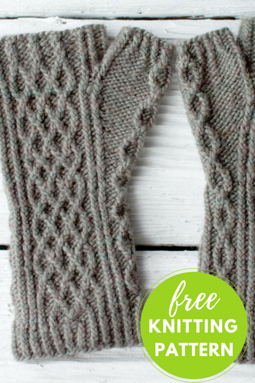 Hasbrouck Fingerless Mitts Free Knitting Pattern