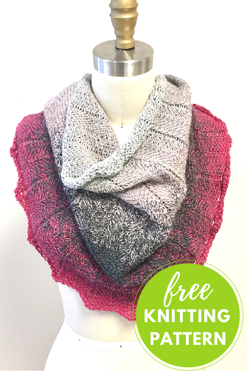Concentric Chevron Cowl Free Knitting Pattern