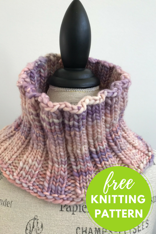 Gentle Ribs Cowl Free Knitting Pattern
