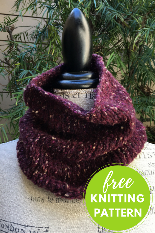 One skein project! Easy Ario Cowl Free Knitting Pattern