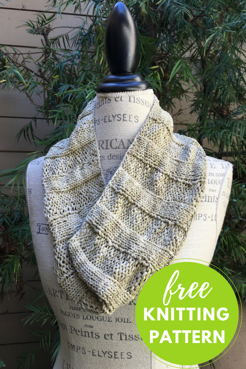 Easy Suede Cowl Free Knitting Pattern