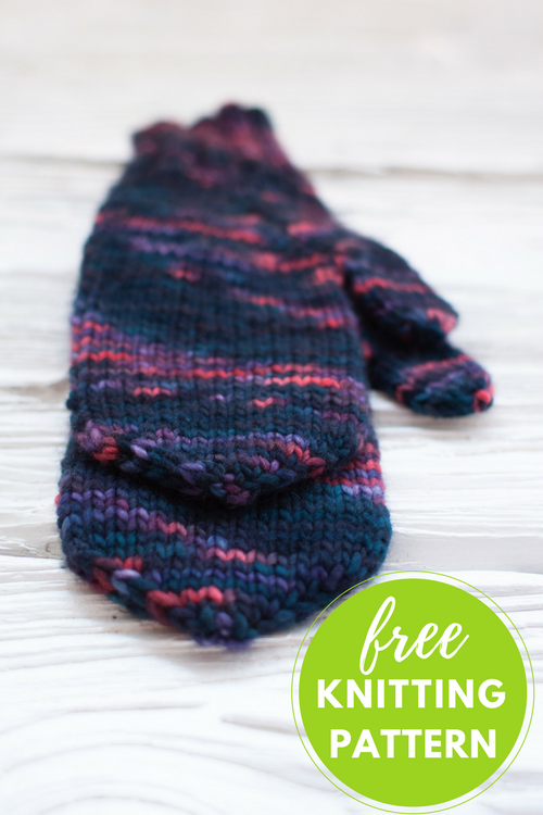 Handful of Berries Mittens Free Knitting Pattern