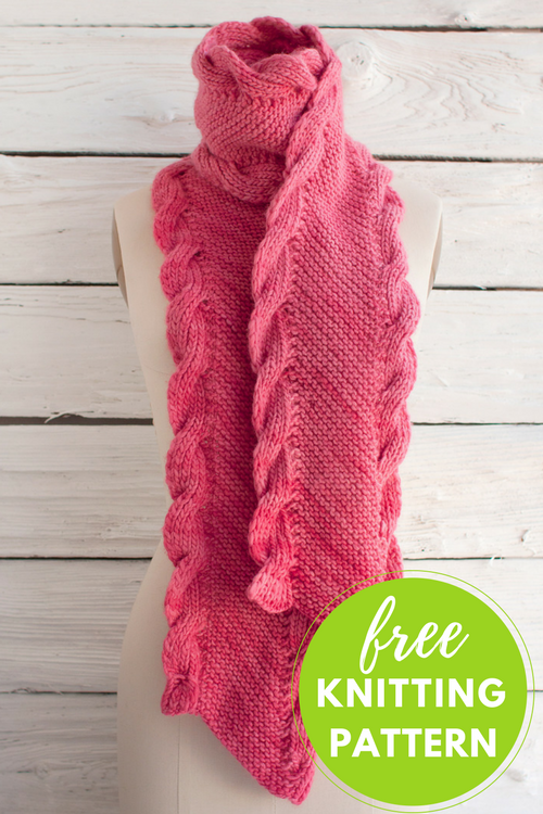 Bias Scarf Free Knitting Pattern