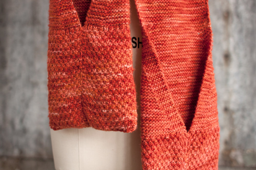 Free Knitting Pattern Manos Camote Pocket Scarf Blogbleknits