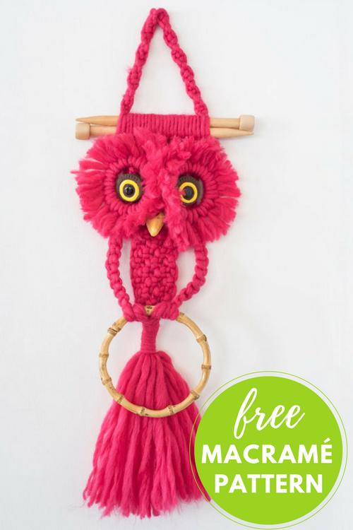 Della Owl Free Macrame Pattern