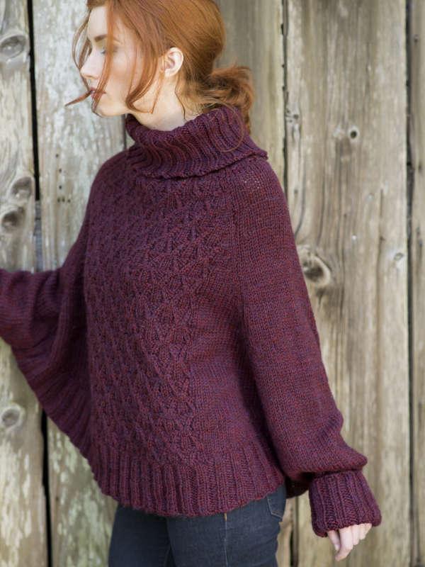 Galilee Poncho Sweater Free Knitting Pattern Blog Nobleknits