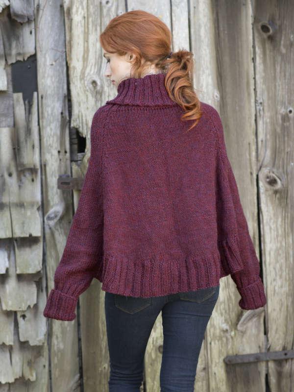 galilee poncho sweater free knitting pattern � blognobleknits