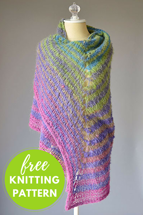 Striped Shawl Free Knitting Pattern