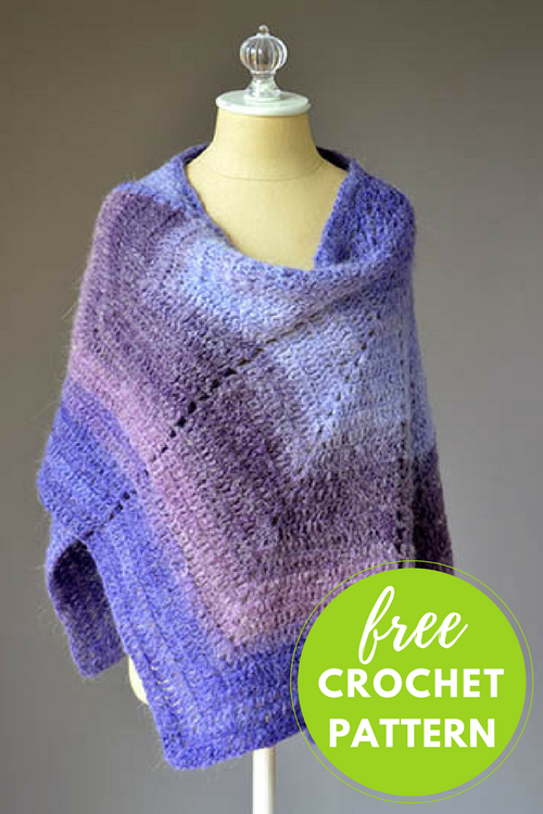 Allium Shawl Free Crochet Pattern