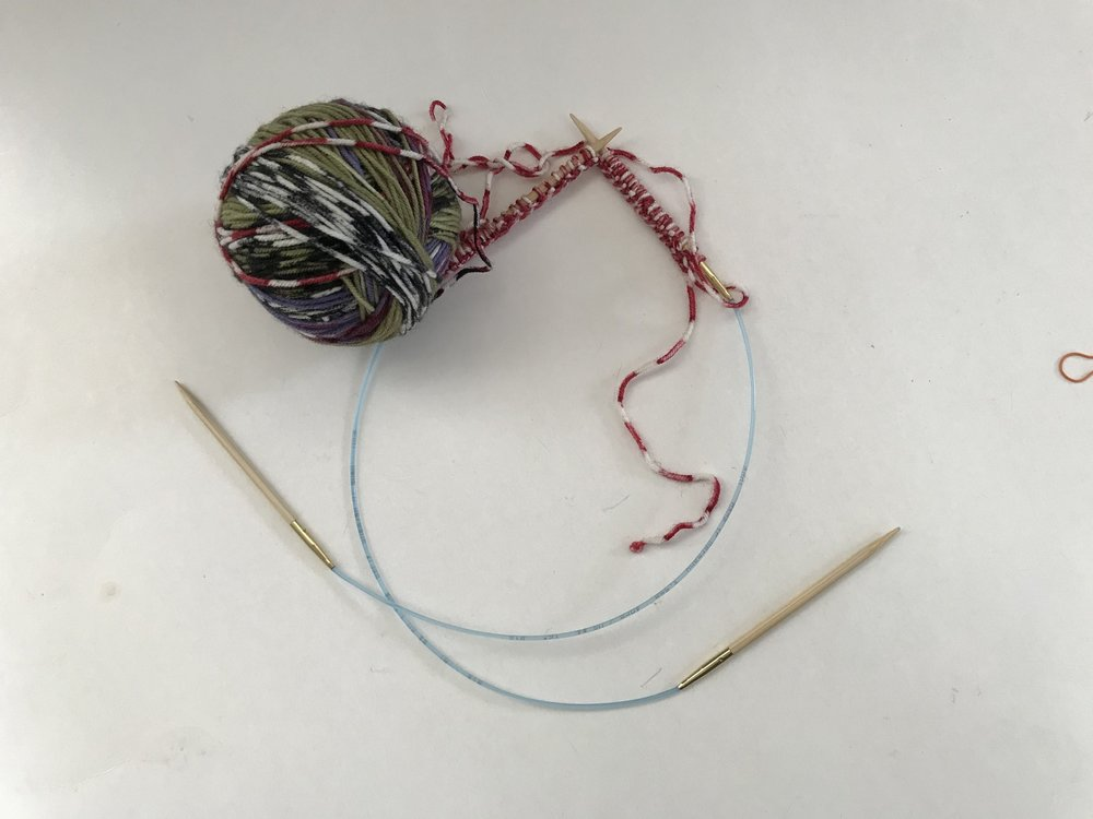 Casting on two needles
