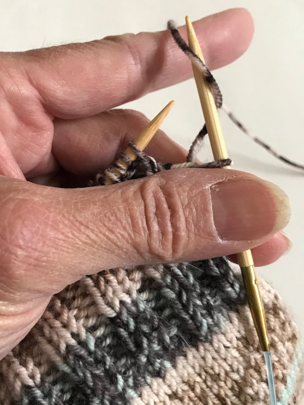Reverse Yarn Over Knitting