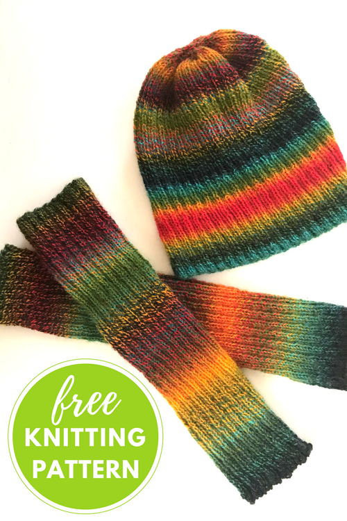Zauberribs Hat & Arm Warmers Free Knitting Pattern